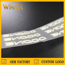 sportswear, t shirt, shoes,bags,garment 3d logo silicone heat transfer tagless label for clothing