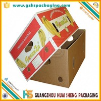 2017/2018/2019 Hot Sales Factory Price Custom Color Printed Banana Pineapple Fruit Box with Die-cutting Fresh Hole