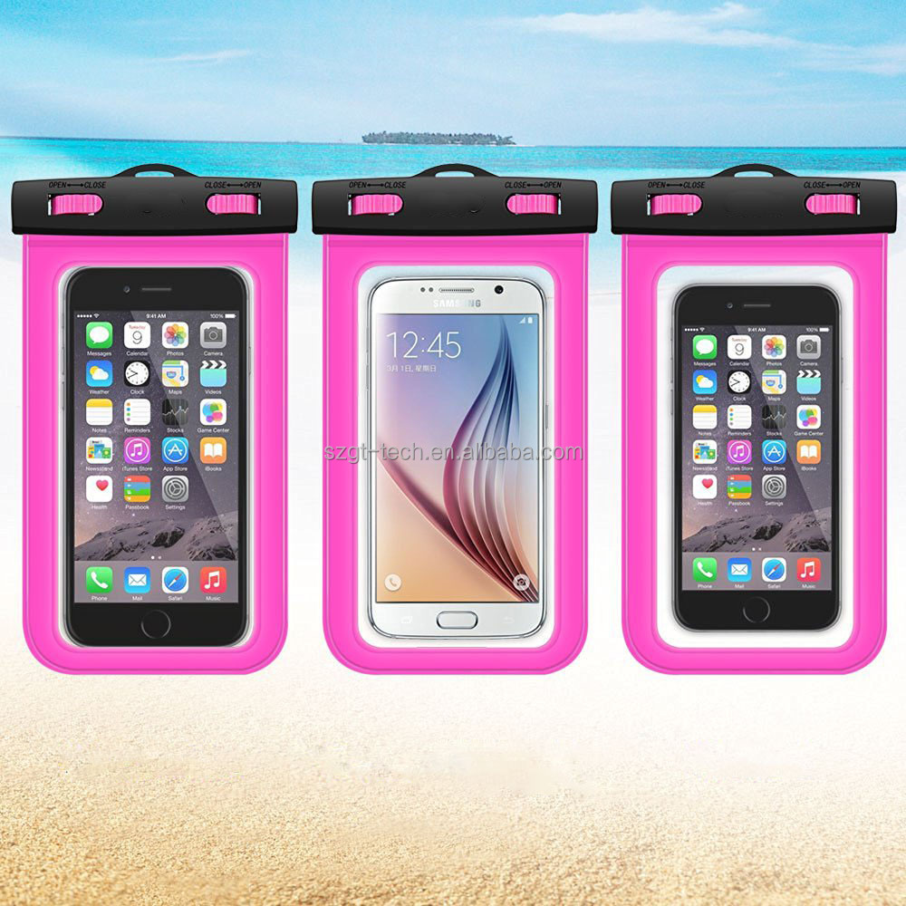 pvc waterproof phone pouch,mobile phone waterproof fabric bags