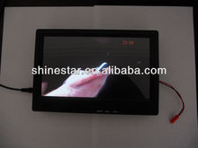 10 inch vehicle digital signage AD LCD display screen with back mount