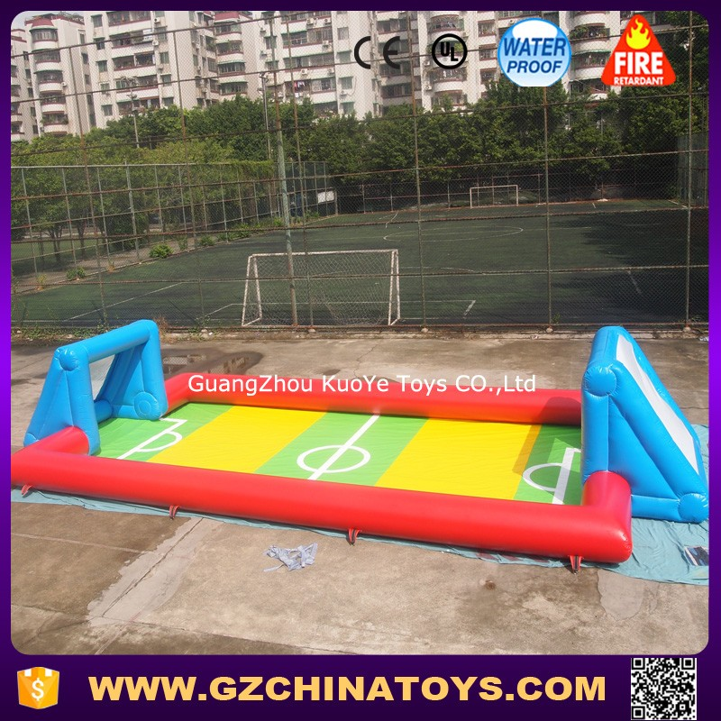 inflatable water football field soccer soap field soap football filed