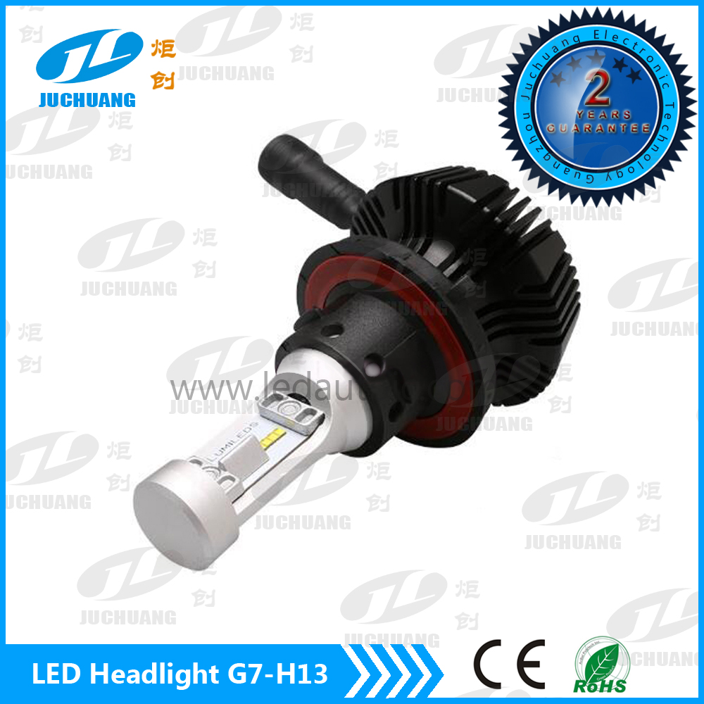 Best light beam pattern super white G7 car headlight assembly H13 led headlight kit