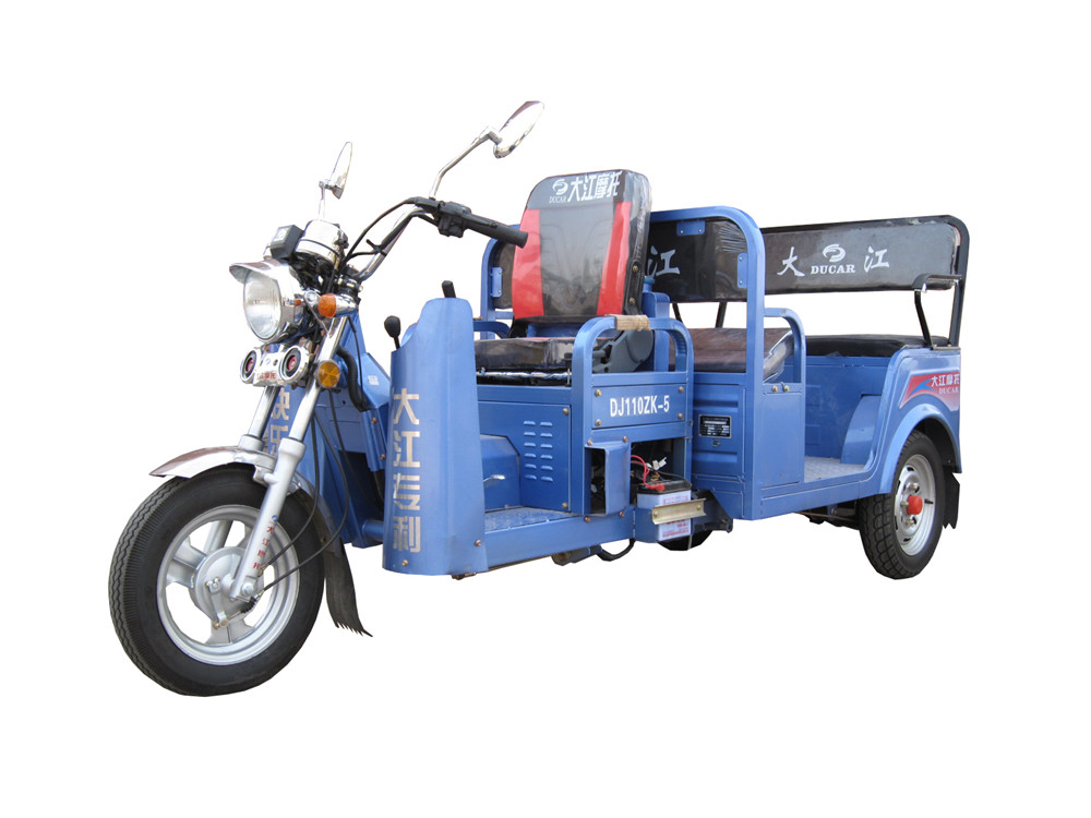 China Dajiang Ducar KuaiLeWangZi passenger tricycle/passenger three wheel motorcycle/gasoline motor tricycle for passenger