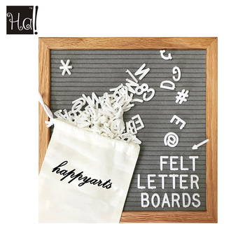 "12"" x 12"" grey felt letter board with Canvas bag print your logo"