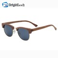UVprotect unisex smoke lens bamboo wooden sunglasses