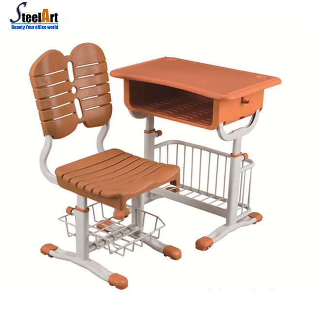 Primary adjustable modern school desk and chair