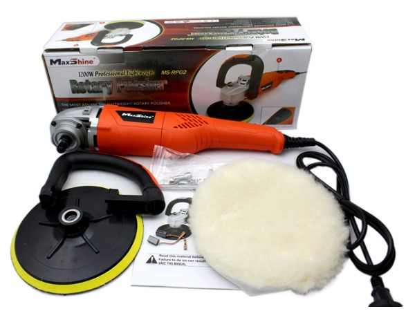 6 speed control rotary polisher 1200W motor UL car buffer with digital display