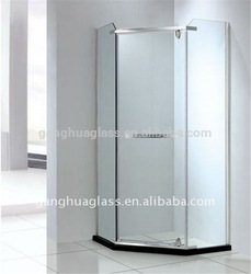 Frameless Five Star Hotel Whole Shower Room
