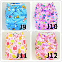 J9-12 YiWu ChangHe 100%Polyester + Cotton 1piece Wholesale Waterproof Reusable All in One Diaper Pants