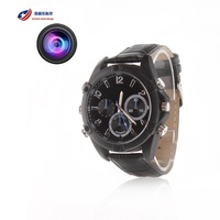 Built-in 16GB Full HD 1080P Waterproof Watch DVR IR Night Vision Hidden Watch Camera caneta espiao Wrist Sport Action Camera