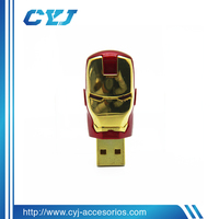 Hot sell iron man usb drive 128mb 256mb 512mb 1gb 2gb 4gb 8gb 16gb 32gb 64gb