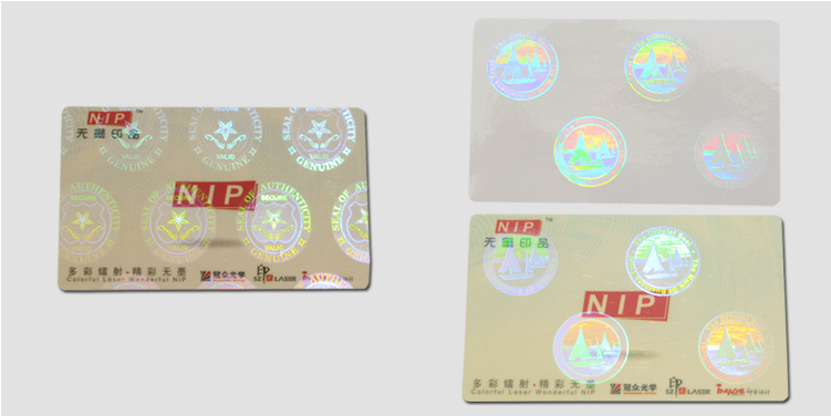 Security Hologram Self Laminating ID Card Label with UV Printing