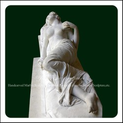 Natural Nude Lying Marble Lady Sculpture