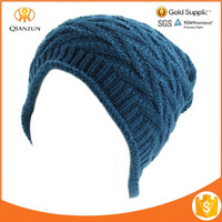 Winter Stretch Knit Slouch Long Roll Beanie Skully Ski Hat Cap