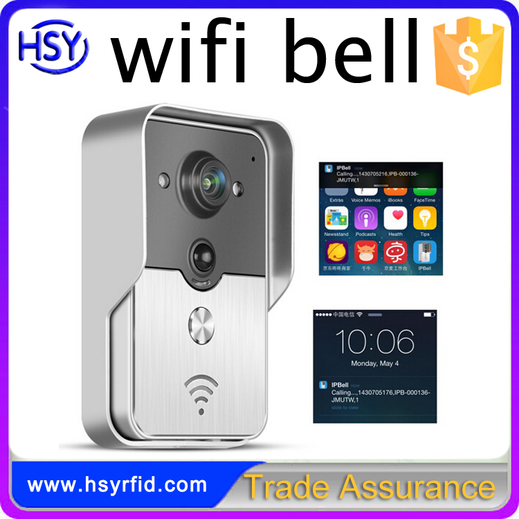 HSY-WF3 Smart phone control automation home systems door bell wireless wifi security camera for apartment door