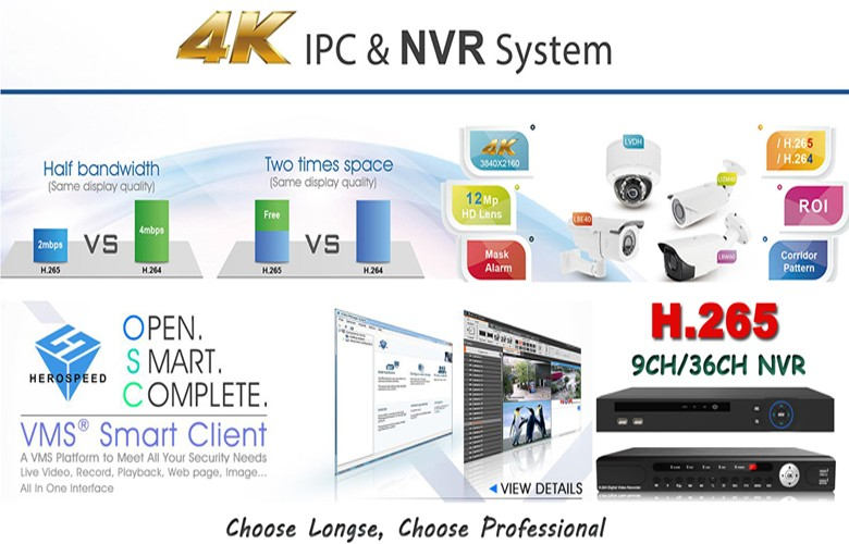 LONGSE H.265 9CH 1080P NVR Support Remote View by Smart Phone Support IE and Special CMS NVR9809U