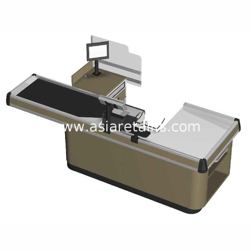 Best quality promotional cheap supermarket cash counter with price