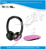 Multifunction 5 in 1 HiFi Wireless Earphone Wireless Monitor FM Radio headphone for TV Stereo MP3 PC CD DVD Headphone NEW IN608