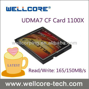 Wellcore 1100X 50pin 256GB fastest cf card speed compact flash memory card