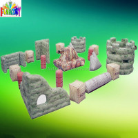 0.6mm PVC paintball bunkers, inflatable airsoft bunker, Canton Fair inflatable manufacturer paintball bunker
