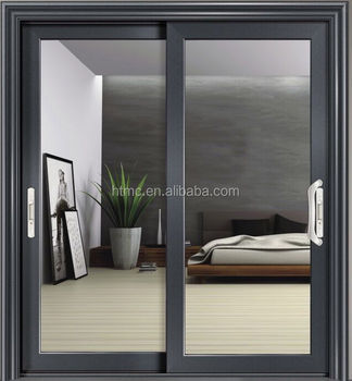 kitchen glass sliding door/patio sliding glass door/half glass door blinds