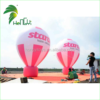 Wholesale Red Advertising Giant Balloons , Inflatable Ground Balloon , Large Balloons for Sale