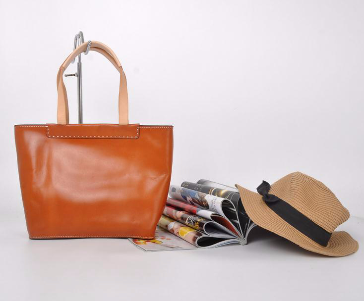 100% HANDMADE!Vegetable tanned leather french brand handbags asia, comely handbags