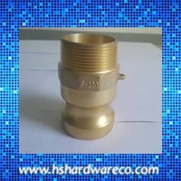 Brass hydraulic coupling quick connector