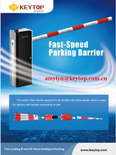 auto parking barrier with IP54 class for commercial carpark