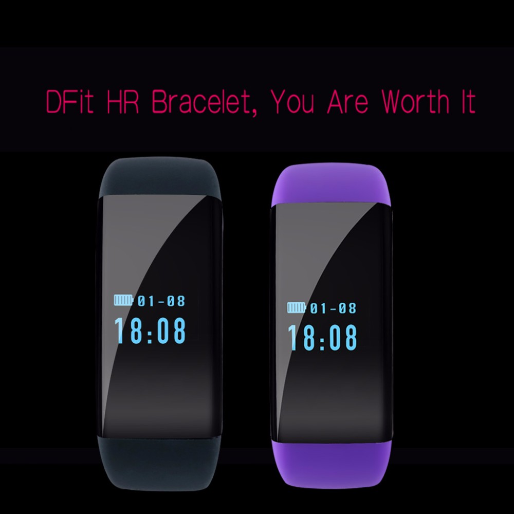 DFit D21 Heart Rate Monitor Led Wristband Fit Bit IP68 Waterproof