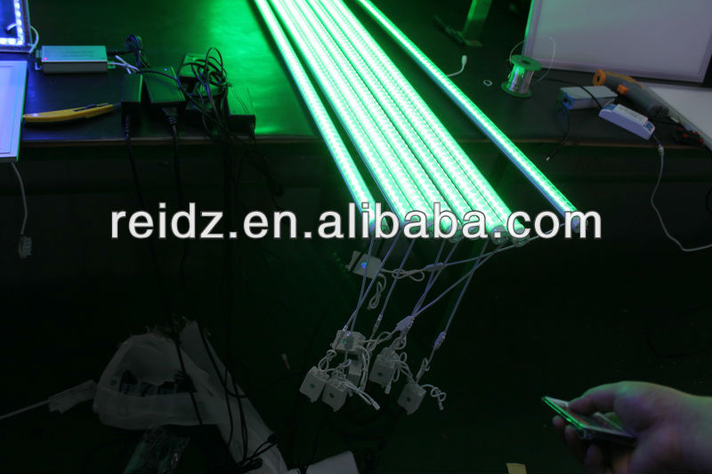 Holidays indoor decoration full color AL+PC led tube rgb dmx