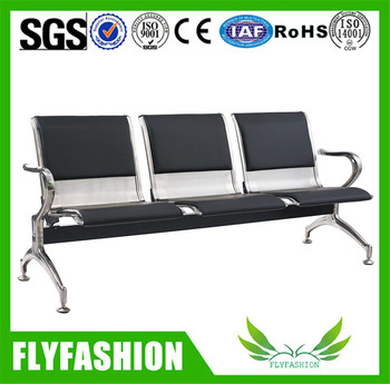 OC-142 Comfortable PP Public Use 3-seater Waiting Chairs Airport Bank Waiting Chairs For Sale