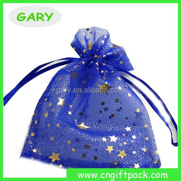 Customized Small Drawstring Plain Organza Pouch For Jewelry
