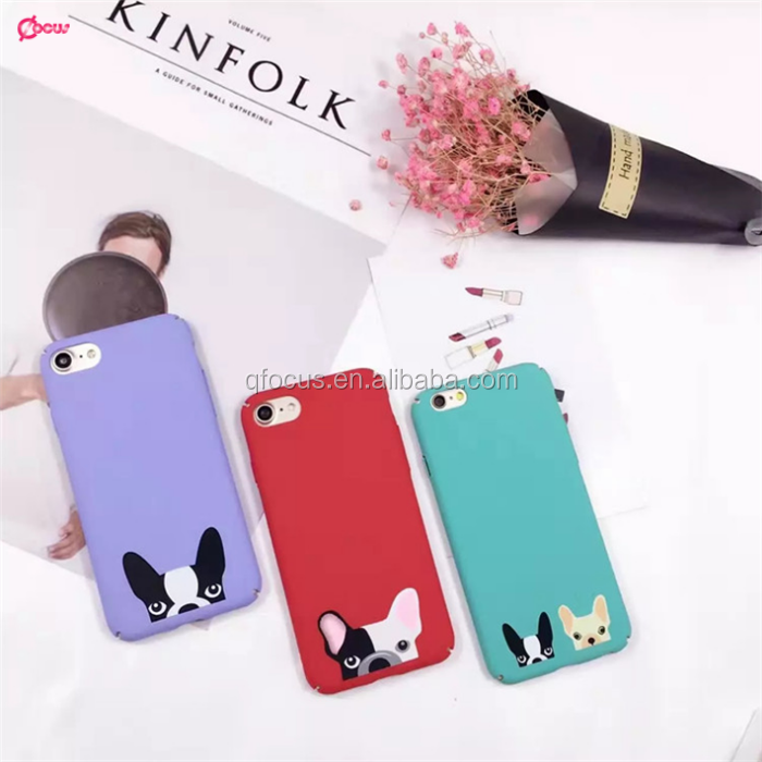 2017 Cartoon Dog PC Matte Couple Phone Case For Iphone6s plus
