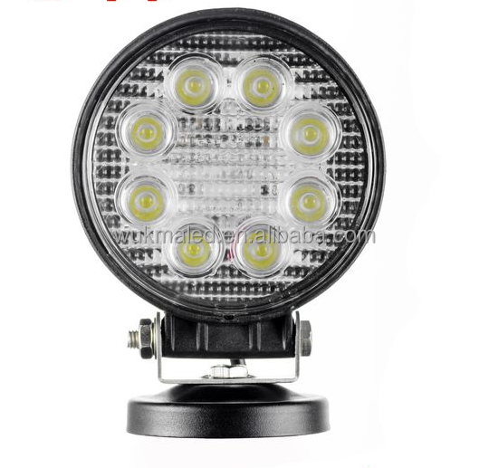 Waterproof Round 24W Led Spot/Flood Work Driving ATV offroad 4WD Truck working lights