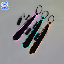 Fashion Led flashing ties Light up EL bow Wire Ties
