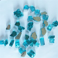 Recycled terrazzo fire pit tempered mirror glass chips