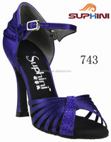 Woman Dress Shoes Customs , Rhinestone Wedding Shoes , Royal Blue High Heel Shoes