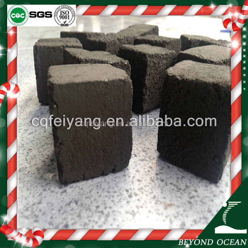 Black square cube 25mm coconut shisha charcoal for hookah lounge