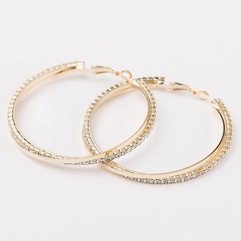 Big hoop earring for women SALE Fashion Big Round Hoop Earrings Simple Pierced Silver/Gold 2 Colors For Evening Party