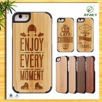 New Arrival Natural Real Cherry For Wood i Phone 6 Cases Cover Whoelsale