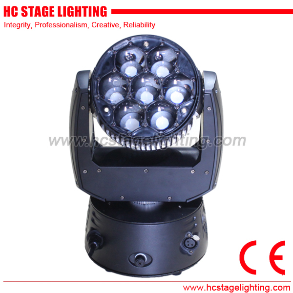 stage lighting equipment 7*15W RGBW 4in1 zoom moving head led beam