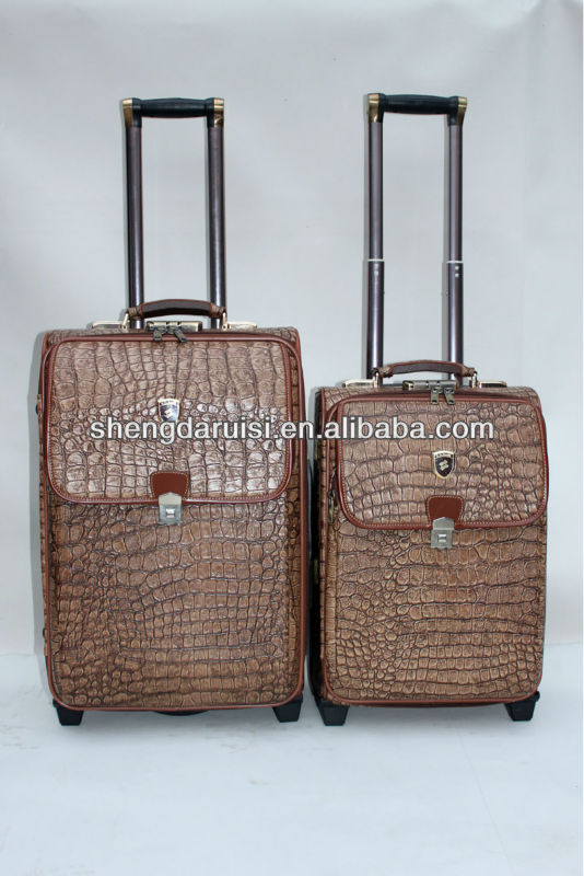 beautiful aluminum wheeled luggage