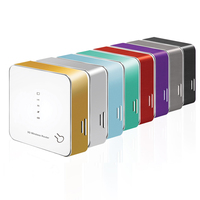3G wireless portable router 3.1Mbps CDMA Rev.A with SIM card slot, RJ45 cable port, power bank