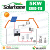 Bluesun Single Phase Commercial Solar Power Generator System 5kw 6kw 8kw 10kw