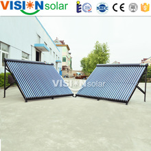Quality and quantity assured direct flow vacuum tube solar collector with heat pipe exchanger