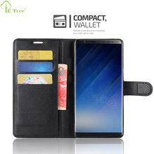 3 Card Holder Slots Litchi Leather Flip Wallet Phone Case For Samsung Galaxy Note 8