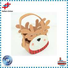 Creative design Christmas gift deer head basket decoration