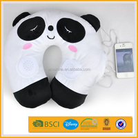 promotion kid u shape memory foam animal stuffed soft car plush neck pillow