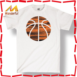 Basketball Filled With Woodgrain Athletic Fitness Gym Fashion - Men's Basketball T Shirt